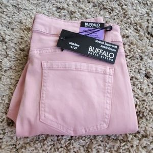 David Bitton Midrise Super Soft Pink Ankle Jeans